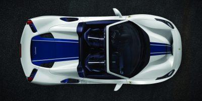 6_Ferrari Pista Spider plan view